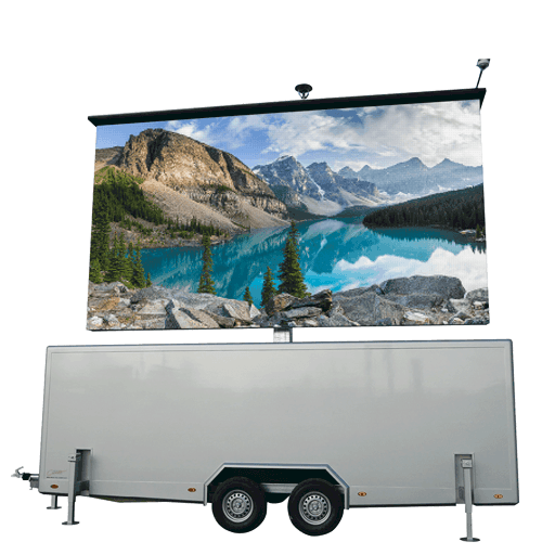 TT-18 - 18,4m2 LED-Videowand in Trailer