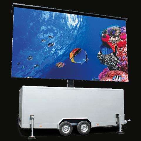 LED Trailer Unilumin Venture 3,9-mm Derzeit größter geschlossener 3,5t LED-Trailer mit Regiekabine