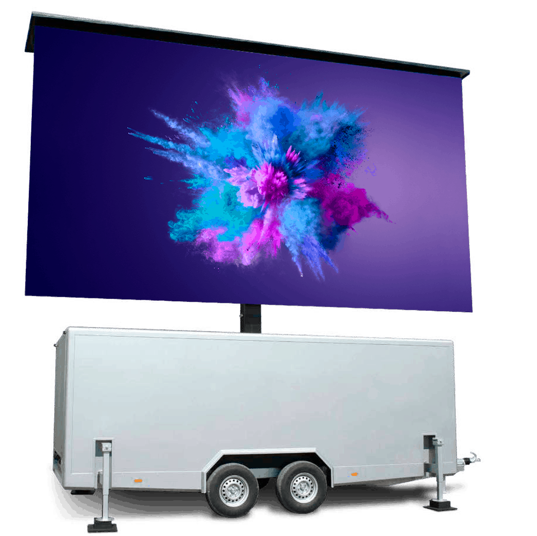 TT-21 - 21m2 ROE-LED-Videowand in Trailer
